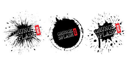 Éclaboussure de peinture éclatante, éléments de conception de vecteur grunge