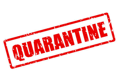 Quarantine grunge vector stamp isolated on white background