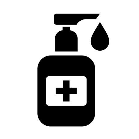 Antibacterial hand soap vector icon isolated on white background Vecteurs