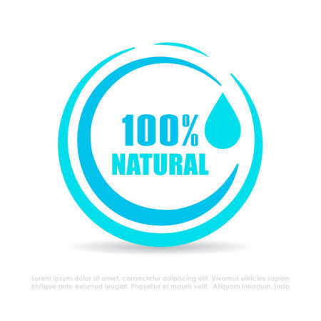 Natural water vector icon on white background