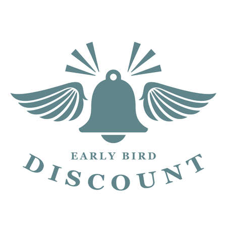 Early bird offer announce icon isolated on white background