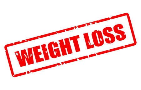 Weight loss vector stamp isolated on white background
