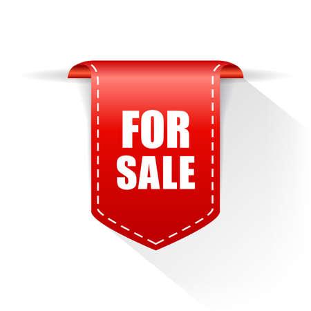 For sale vector announce ribbon isolated on white background Vektoros illusztráció
