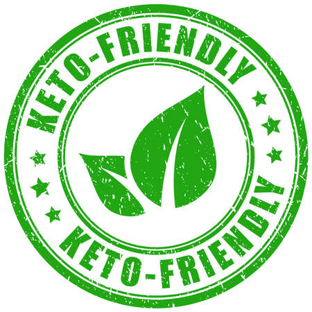 Green rubber stamp keto-friendly