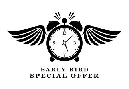 Early bird special offer abstract pictogram on white background Vektorgrafik