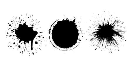 Paint or ink vector splash isolated on white background