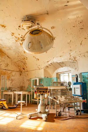 Old abandoned hospital and operating room interior Foto de archivo