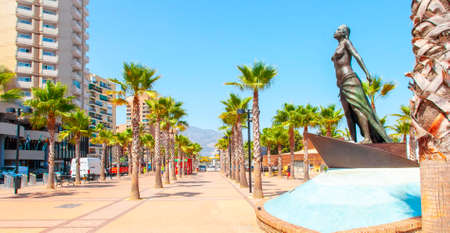 Fuengirola town seafront main alley, Spain