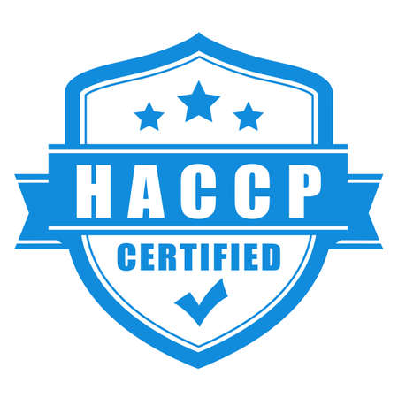 Haccp certified vector emblem on white background