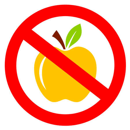 No apples, please do not feed the animals vector sign