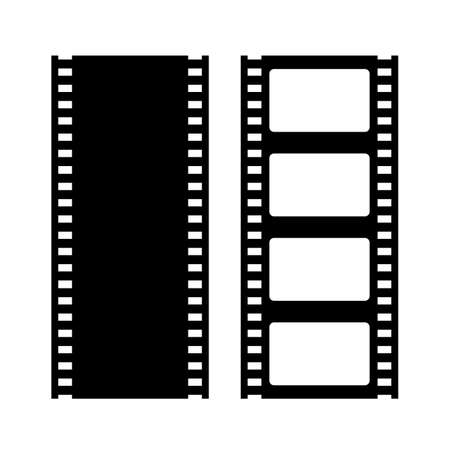 Film strip vector icons isolated on white background
