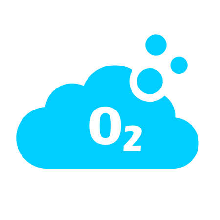 Oxygen vector icon on white background