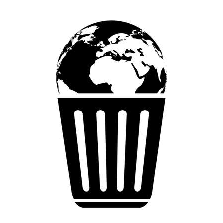 No littering vector icon, save earth concept