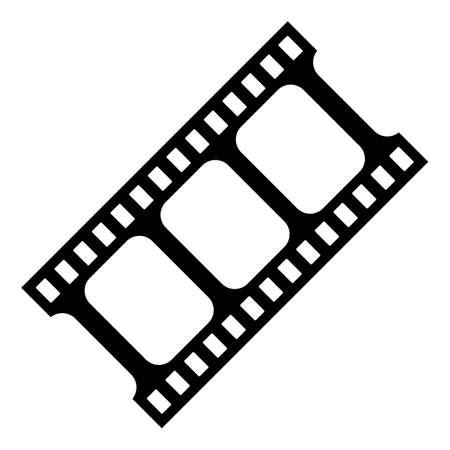 Film strip vector icon isolated on white background Ilustración de vector