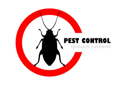 Pest control vector sign isolated on white background
