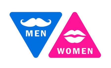 Men and women restroom signs set on white background Vektorgrafik