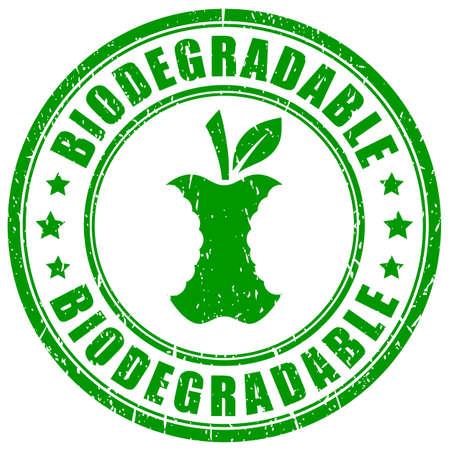 Biodegradable waste vector stamp on white background Vektorgrafik