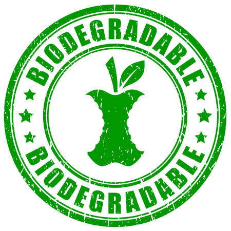 Biodegradable waste vector stamp on white background Vector Illustration