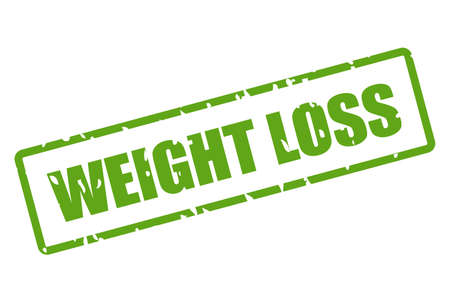 Green imprint weight loss isolated on white background