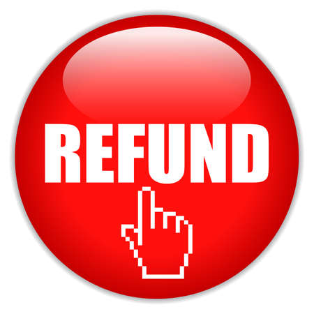 Refund request vector icon on white background Vettoriali