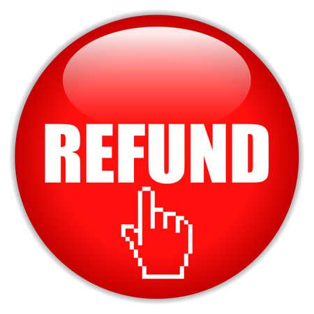 Refund request vector icon on white background