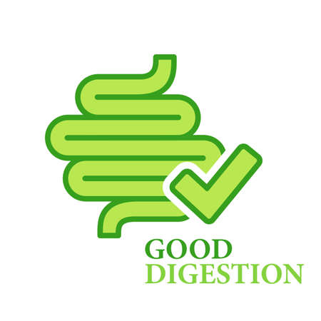Good healthy digestion vector logo isolated on white background
