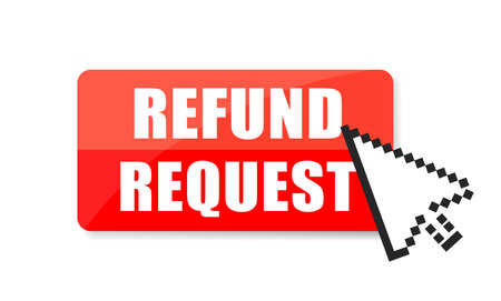Refund request vector icon isolated on white background