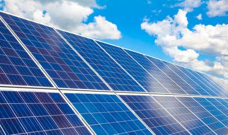 Solar panel and sun energy generator, green energy concept