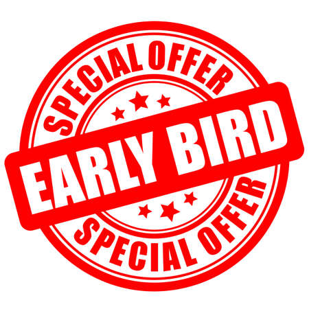 Early bird special offer label on white background Vektorgrafik