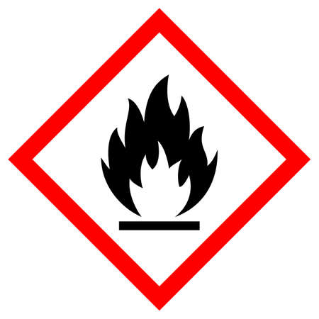 Flammable vector sign isolated on white background Ilustração