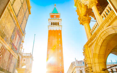 Campanile tower and San Marco square, Venice, Italy Stock Photo