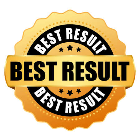 Best result gold award badge isolated on white background
