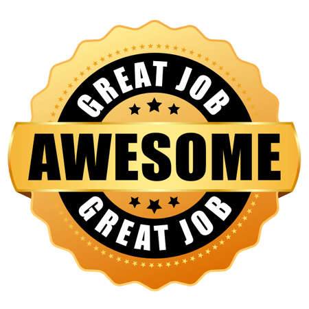 Awesome great job vector icon isolated on white background