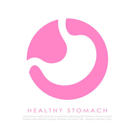 Human stomach vector logo on white background Logo