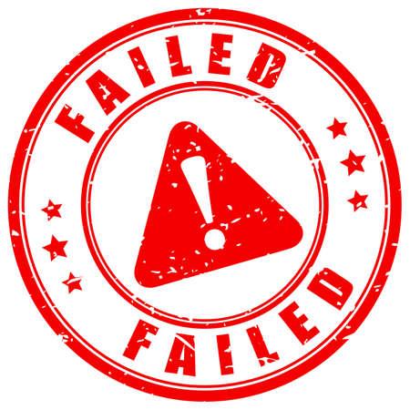Failed grunge vector stamp isolated on white background Vektorgrafik