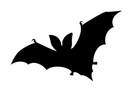 Bat silhouette vector icon on white background