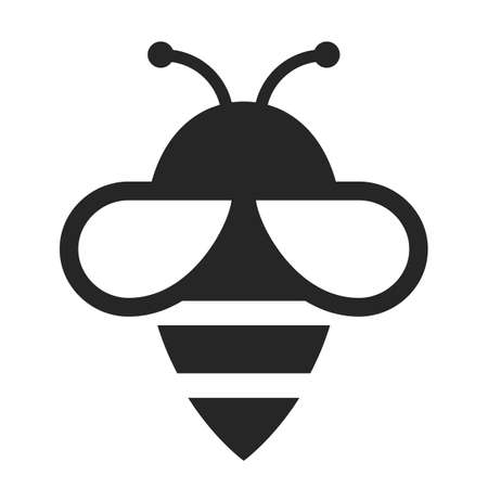 Bee vector icon on white background