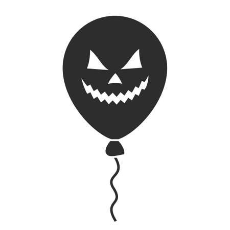 Halloween spooky balloon vector icon isolated on white background