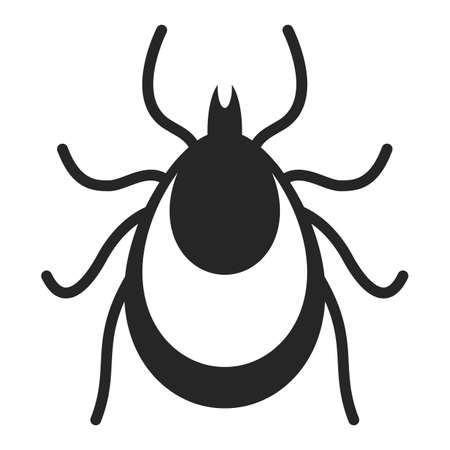 Tick insect vector icon isolated on white background