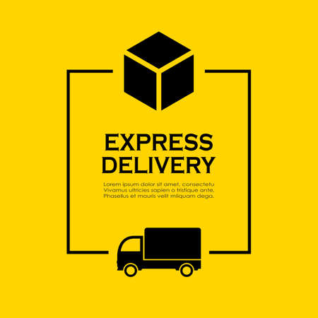Delivery service company information texbox, template for your design Vettoriali