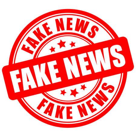Fake news vector sign on white background