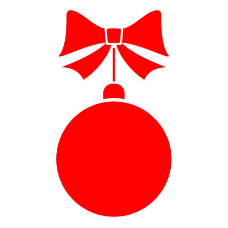 Hanging Christmas decoration vector icon on white background