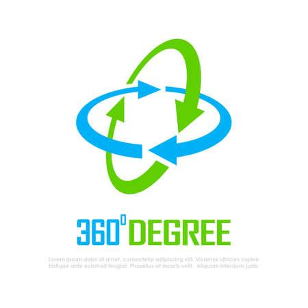 360 degree vector logo isolated on white background Logos