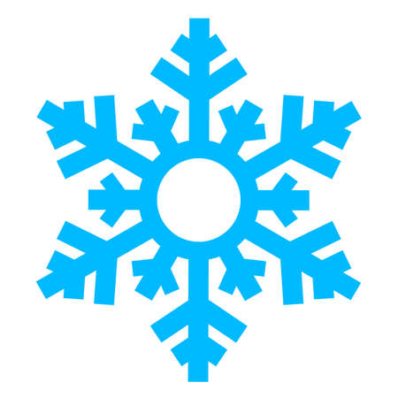 Snowflake vector icon isolated on white