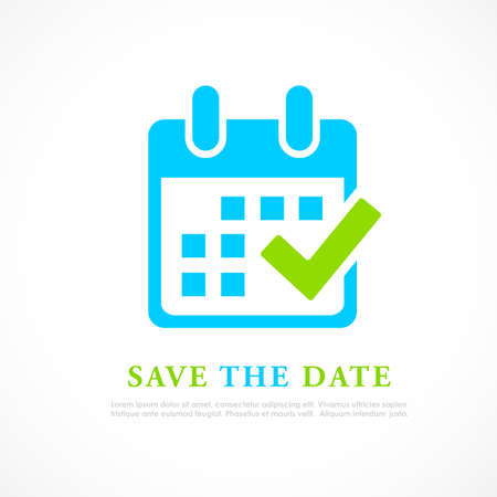 Save the date vector icon isolated on white background 向量圖像