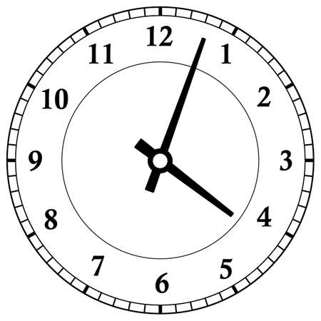 Clock dial face vector illustration on white background