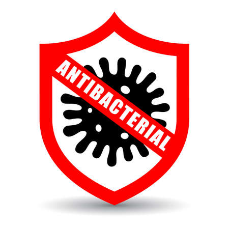 Stop virus, antibacterial vector icon isolated on white background
