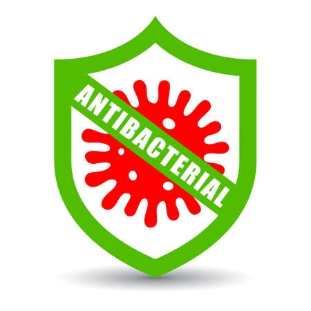 Antibacterial vector icon isolated on white background