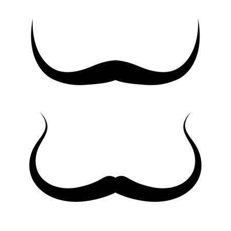Thin moustache in Salvador Dali style, vector icon isolated on white background