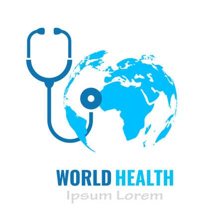 Medical vector logo, health icon isolated on white background Logo